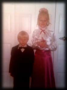 Ring Bearer and Flower Girl, 1980. Don't we look thrilled?