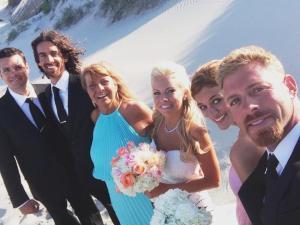 The key players. Aunt Cheryl and her spawn. Left to right: Aaron, Tim (Jesus) Cheryl, Rachel (Barbie) Rebekah, Jake
