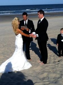 Officiant Aaron, marrying Barbie and Ken.